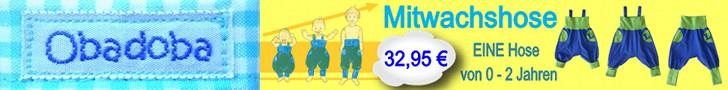 Mitwachshose für Babys und Kleinkinder von 0 bis 2 Jahren